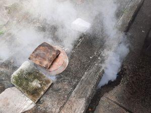 rookgasafvoer plat dak